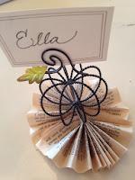 Placecard tutorial paper pinwheels
