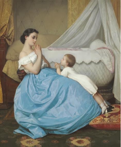 Auguste Toulmouche - A Bedtime Prayer