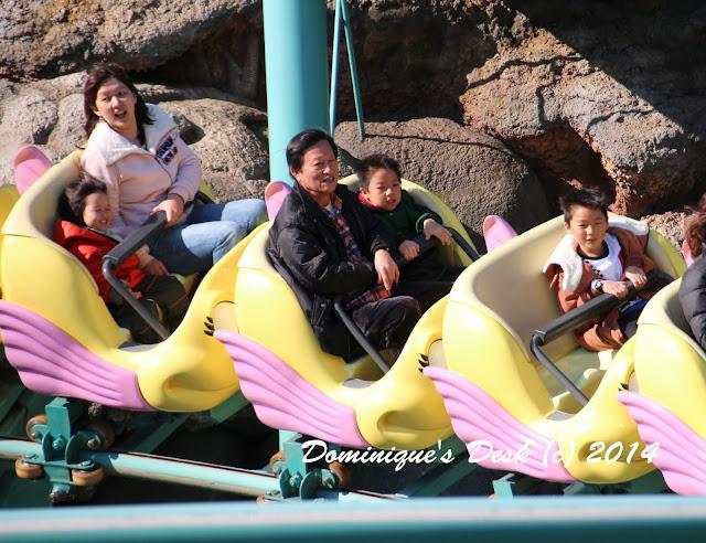 Enjoying the roller coaster ride