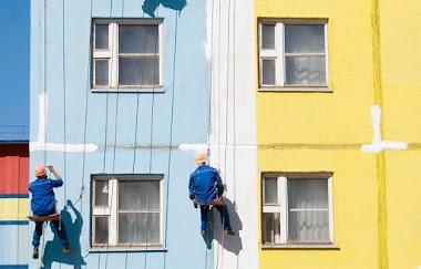 Покраска фасадов в Барнауле