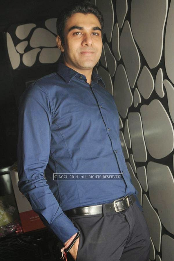 Varun Katyal during the party, held at BW club, New Friends Colony.