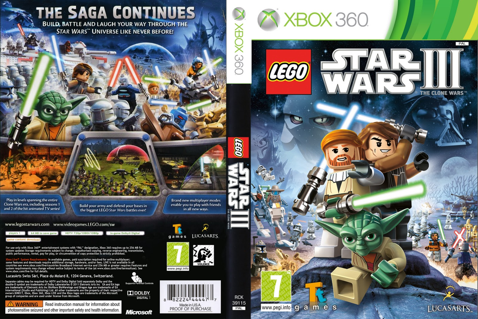 Capas lego star wars 3 the clone wars xbox 360