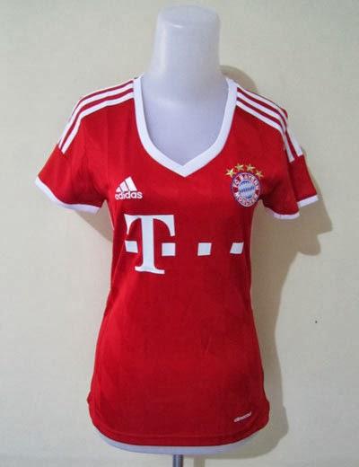 Jual Jersey Cewek Bayern Munchen Home 2014