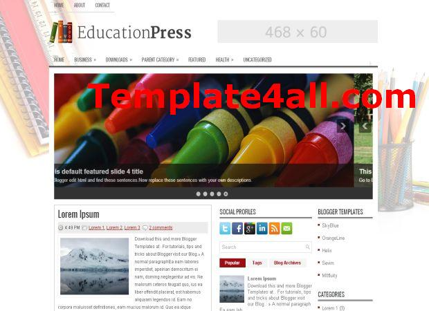 Education Magazine Blogger Template