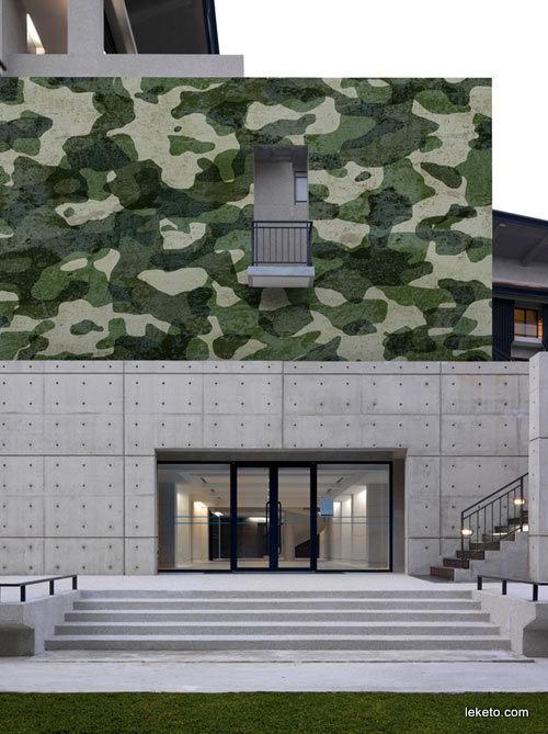 нетипичен и различен тапет за сграда