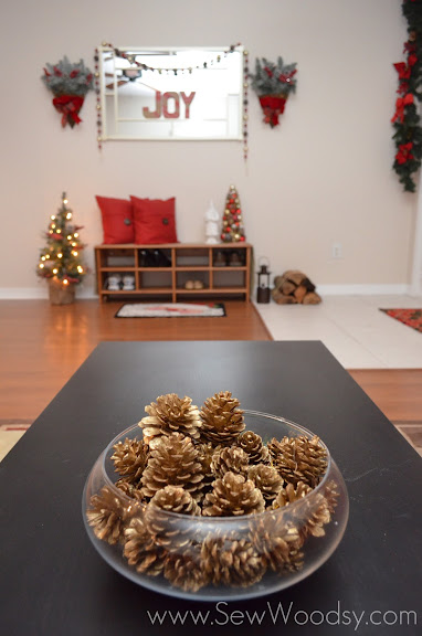 Martha Stewart Living Winterberry Golden Pinecone Ornaments