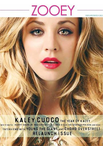 Kaley Cuoco en Zoey Magazine