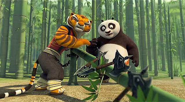 Screen Shot Of Hollywood Movie Kung Fu Panda Good Croc Bad Croc (2013) Download And Watch Online Free at Alldownloads4u.Com