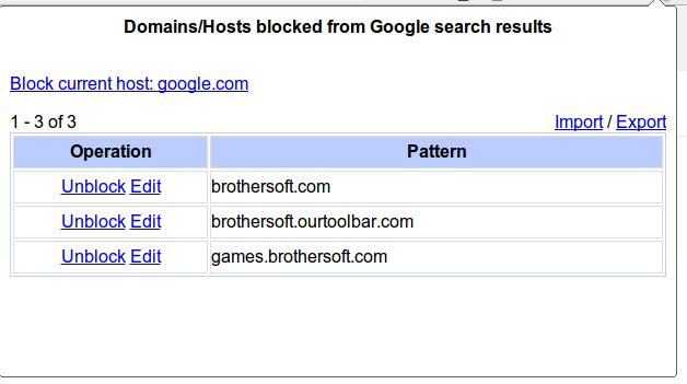 Daftar SItus-situs yang di blockir