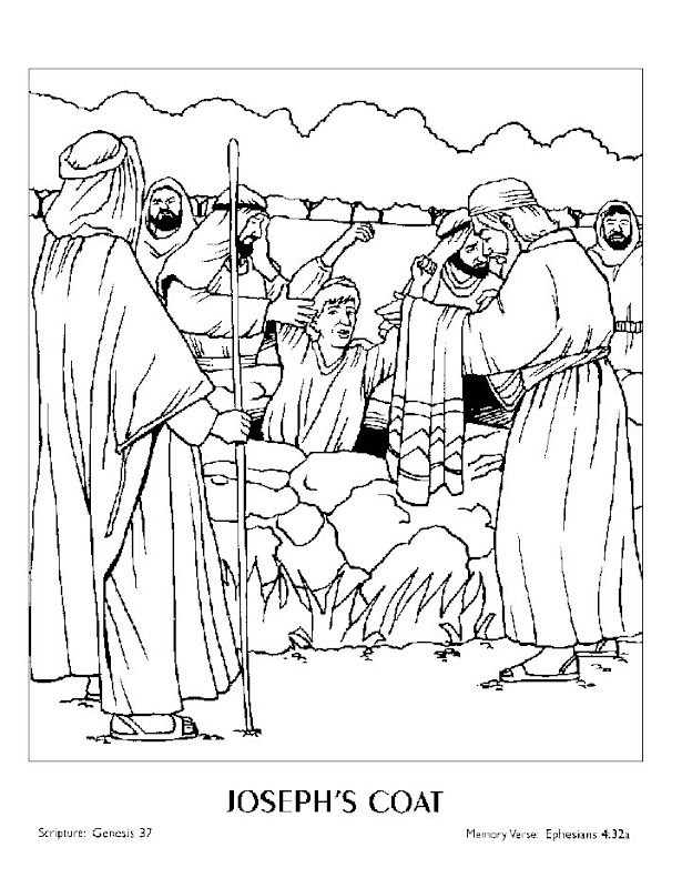 José y sus hermanos para colorear