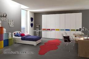 Tủ quần áo gỗ công nghiệp màu trắng