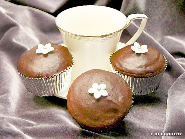 Chocolate Earl Grey Cupcakes