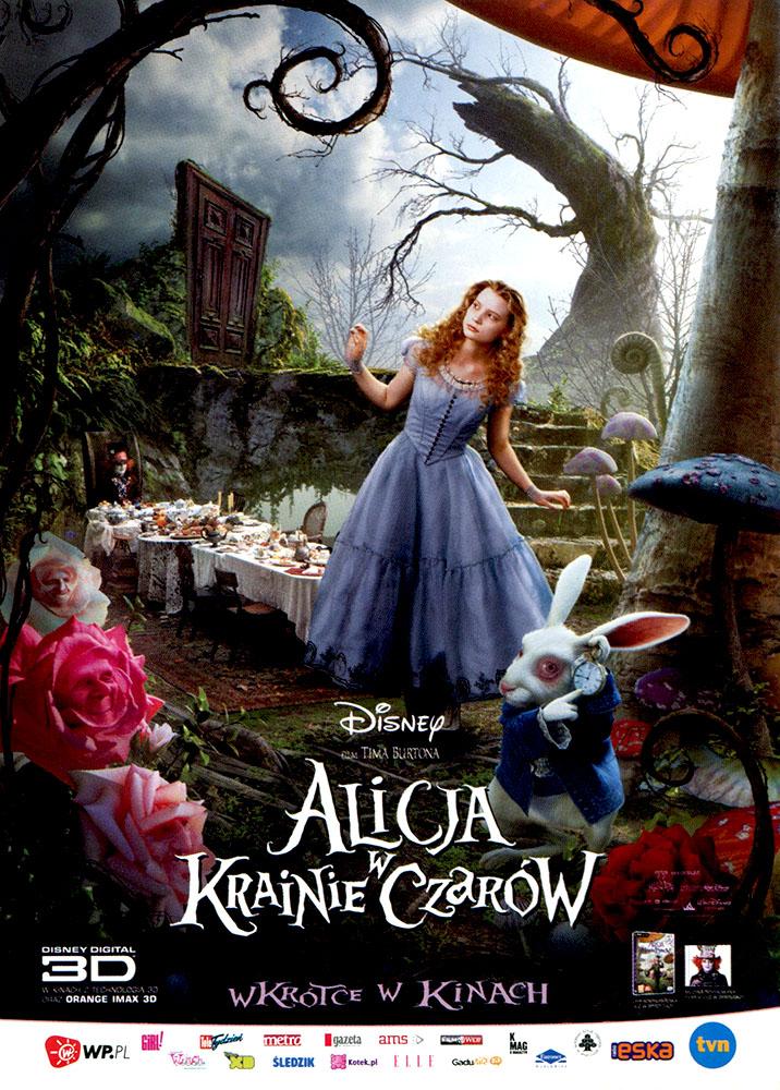 Ulotka filmu 'Alicja W Krainie Czarów (przód)'