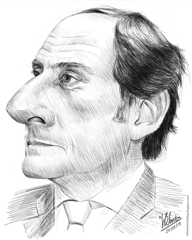 Sketch caricature of Paulo Porta, using Krita.