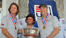 J/80 sailor- Brian Keane- winning sailing regatta