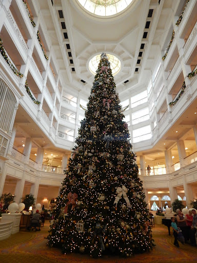 Spectacular Christmas tree at the Grand Floridian, Disney