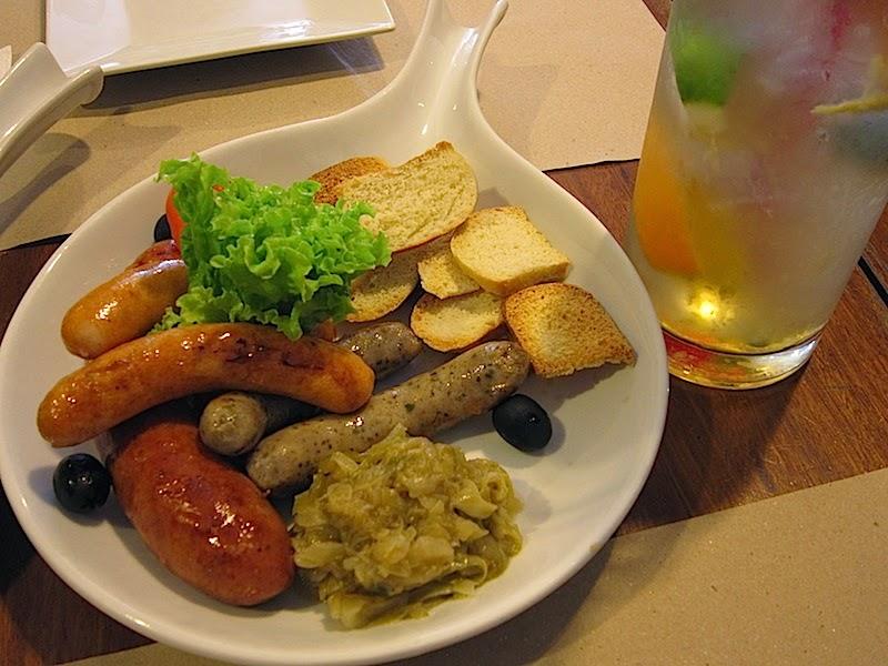 """""""Poco Deli's German Sausage Sampler"""