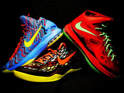 nike lebron 10 xx christmas pack 3 01 Throwback Thursday: Look Back at LBJs 2011 Christmas Shoes