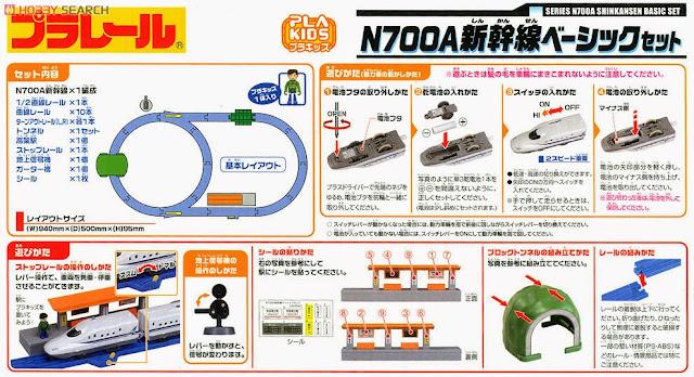 Bộ Tàu hỏa N700A Shinkansen Basic Set chạy bằng pin