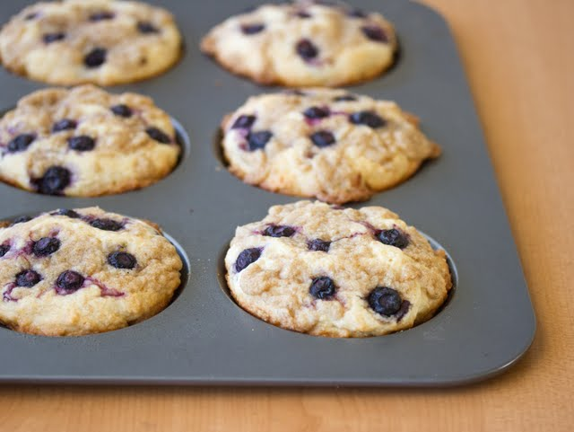 photo of Blueberry Coffee Cake Cookies in a baking pan