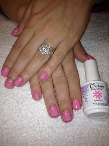 Nail Art Las Vegas: Daisy Gel Pinkish Girl Las Vegas
