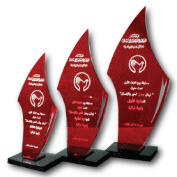 Absi Red Acrylic Economy Trophies