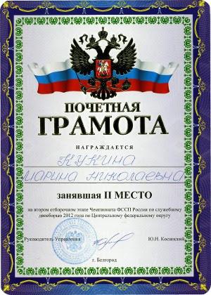 Судебного пристава наградили серебряной медалью