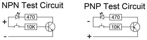 Transistro tester schematic
