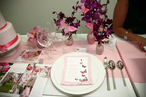 Pretty tablesetting ideas from Sandals Weddings by Martha Stewart.