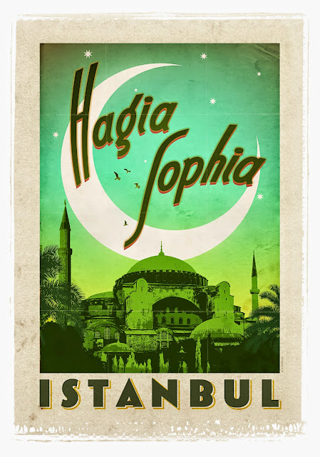 hagia sophia retro poster