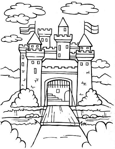 為孩子們的著色頁: Castle - free coloring pages