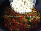 Salata de cuscus cu peste afumat preparare