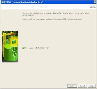 Crear unidad lógica en Array de SAN IBM DS3950