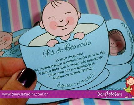 17 Melhores Convites Para Chá De Bebê Revista Artesanato