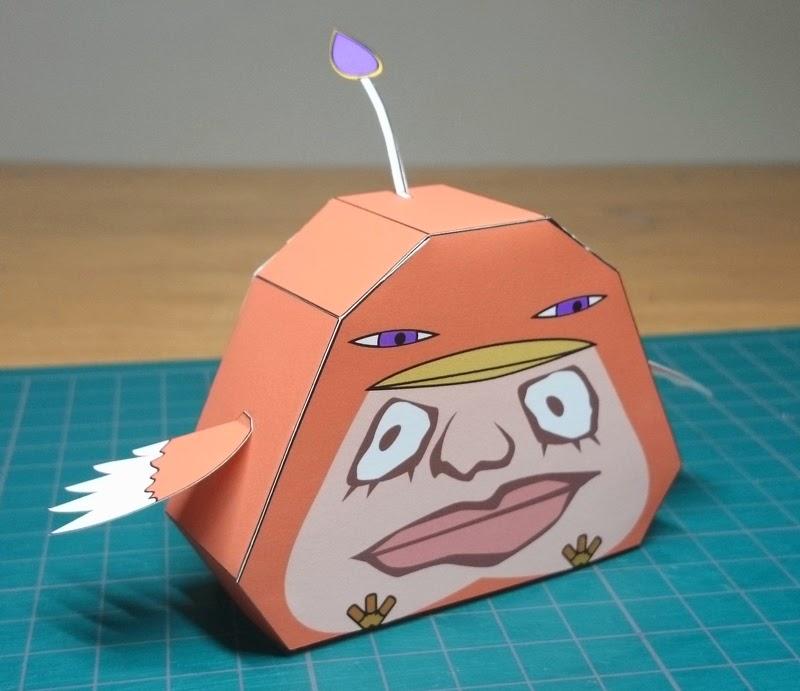 Yokai Watch Harao-dori Papercraft