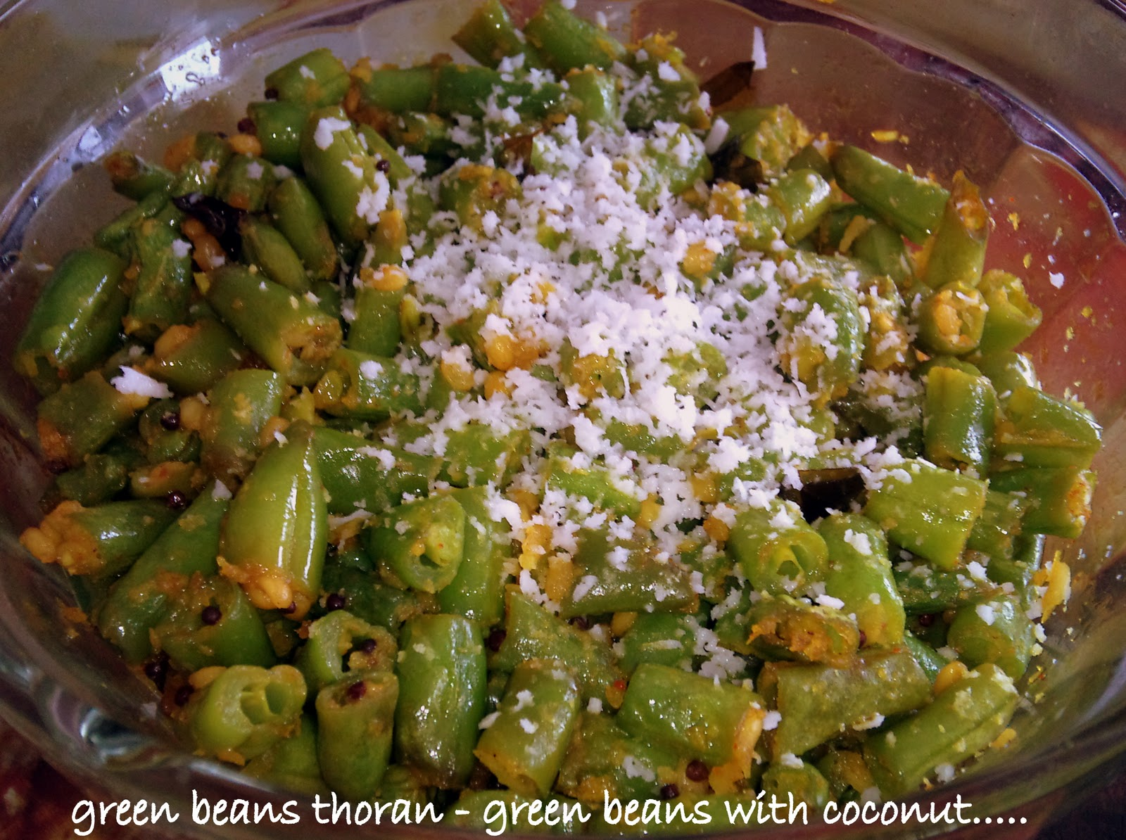 Me: From Your Blogs: Green Beans with Coconut (Green Beans Thoran