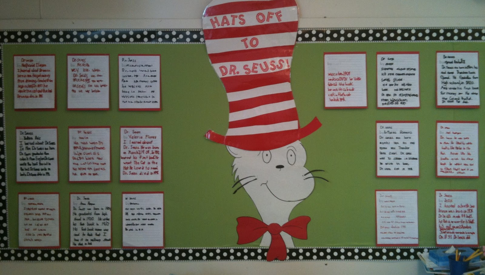 Cat In The Hat Display Board
