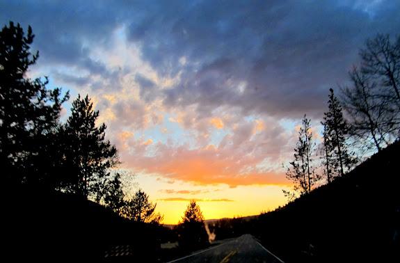 Sunset over Mirror Lake Highway