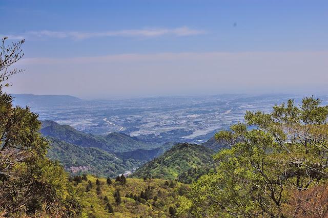 鎌ヶ岳山腹から四日市方面の写真