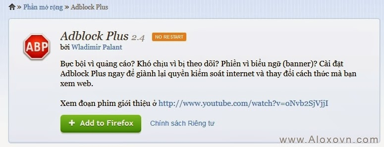 Adblock Plus cho Firefox