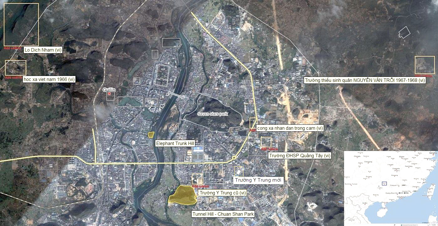 Bản  đồ các trường VN ở Quế Lâm tại  Wikipedia