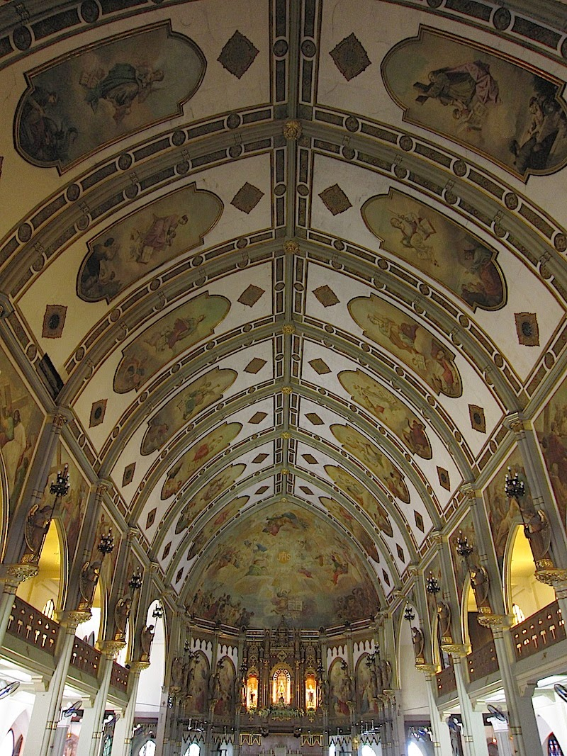 ceiling of the Abbey of Our Lady of Montserrat