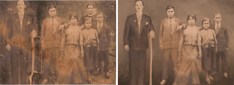 Photo restoration, using GIMP.