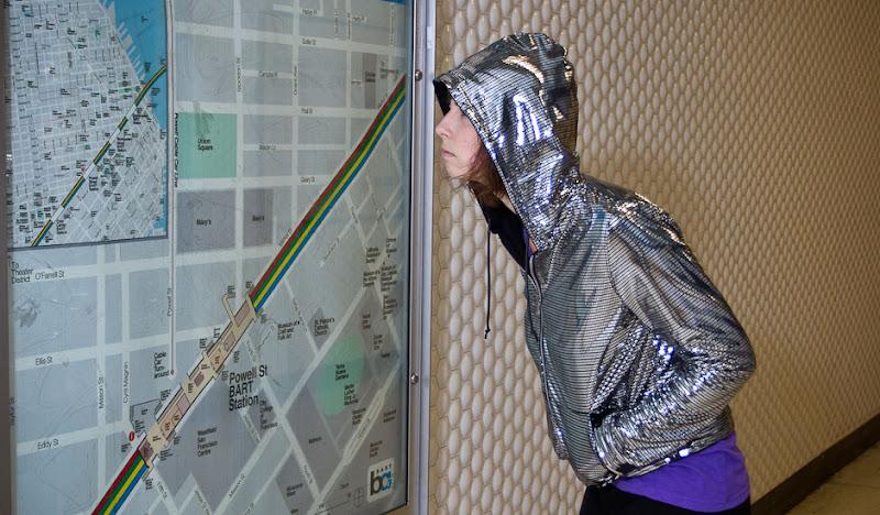 Women's Disco Hoodie plus BART Map