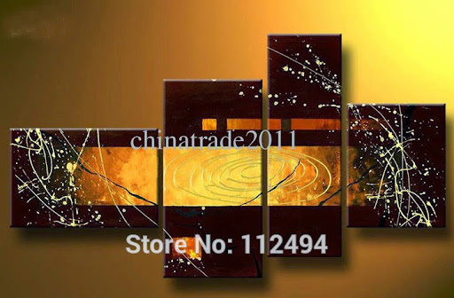 100%handmade Modern abstract Oil Painting living room d