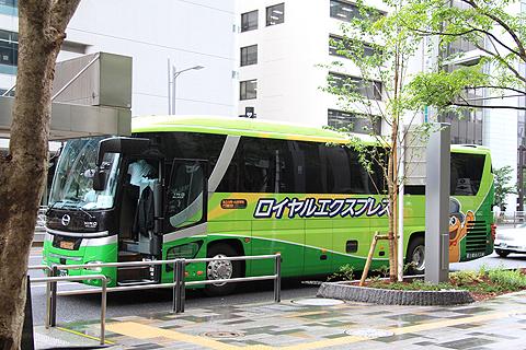 富士観光バス「ロイヤルエクスプレス」東京便 東京駅到着
