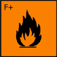 Extremely flammable (amat sangat mudah terbakar)