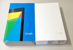 Nexus7(2013)のパッケージ