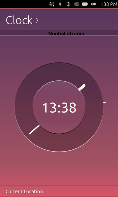 Ubuntu Touch clock