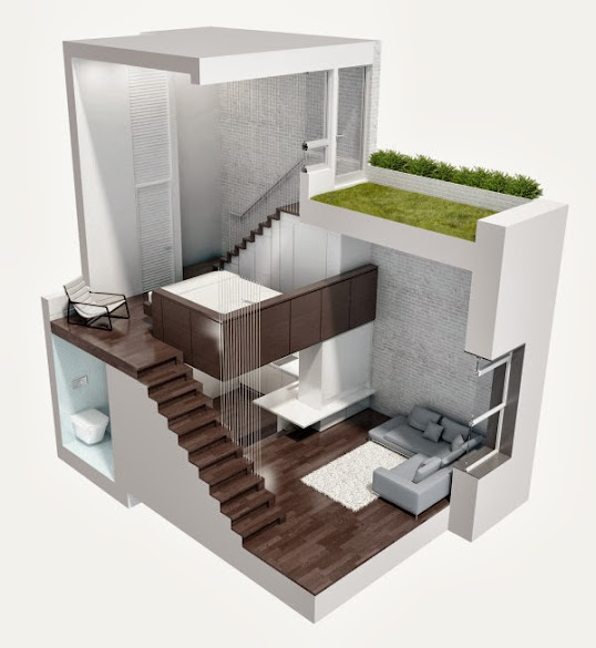 thiết kế nhà ống đẹp hiện đại 2